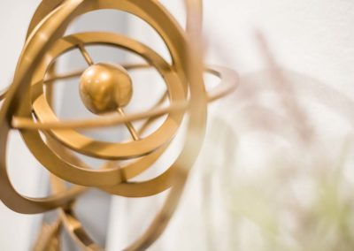 Zoomed in image of a spiral decorative art piece